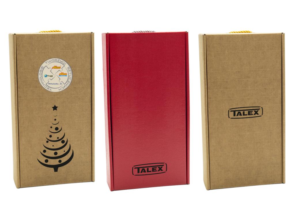 pudełko na prezenty z logo